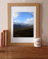 Print of Tryfan from Crimpiau