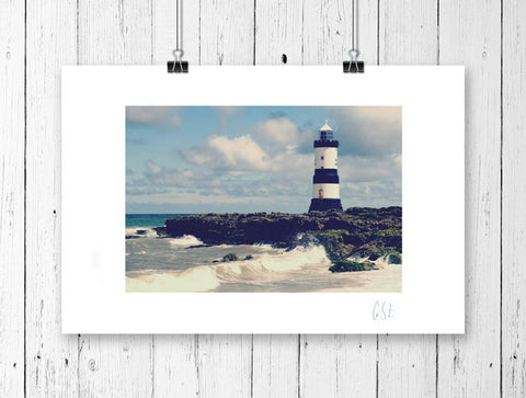 Retro lighthouse print