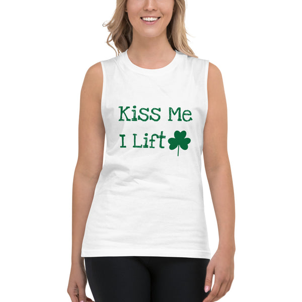 Kiss Me I Lift Muscle Shirt (Unisex)