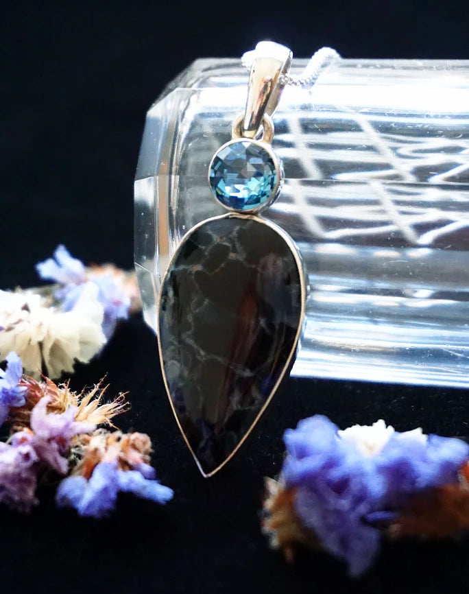 Witch's Protection Topaz Pendant
