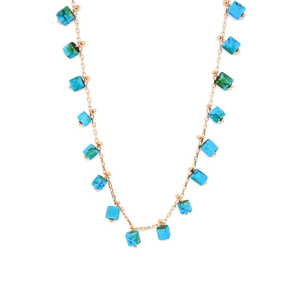 Turquoise Rollers Necklace