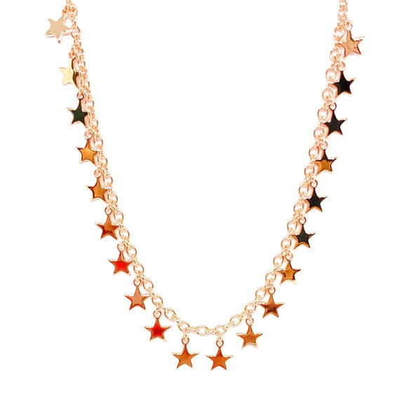 Multi Star Chain Choker