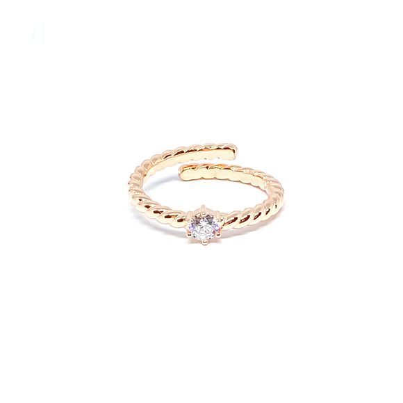 Solitaire Twist Ring