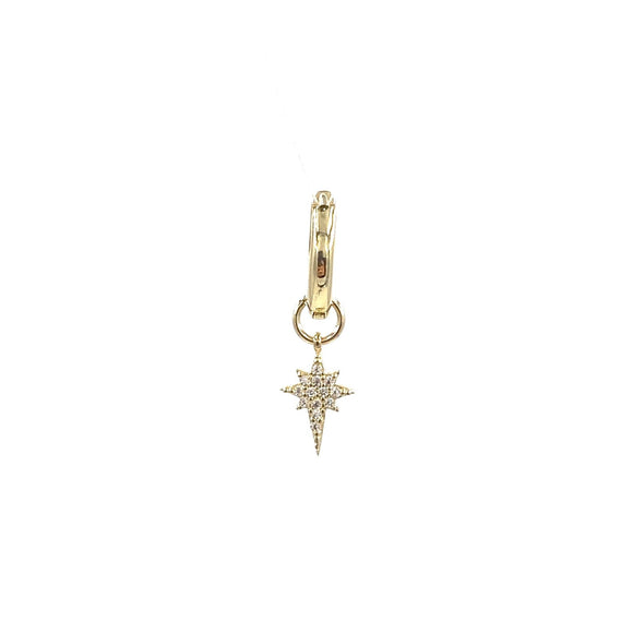 Northern Star Drop Huggie Gold Earring