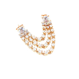Strass Chain Double Earring