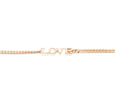 LOVE Cuban Chain Bracelet
