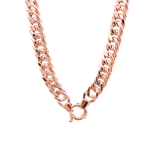 Thick Lock Chain Necklace