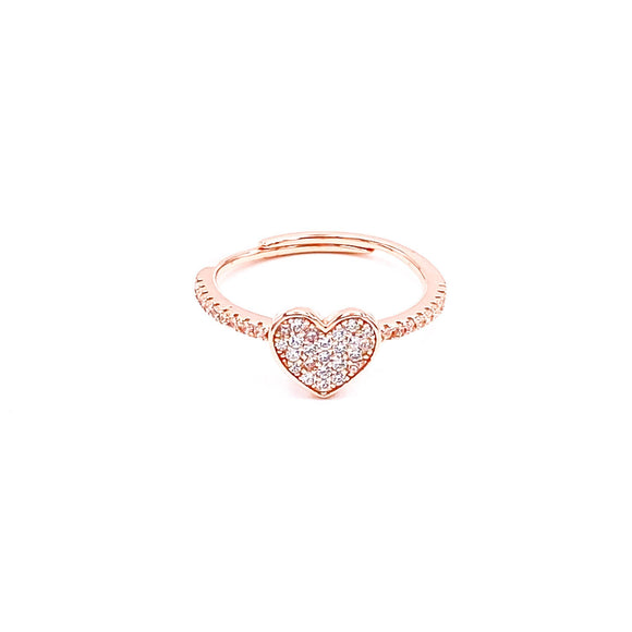 Heart Pave Set Ring