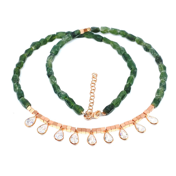 Aventurine Drop Gemstone Necklace