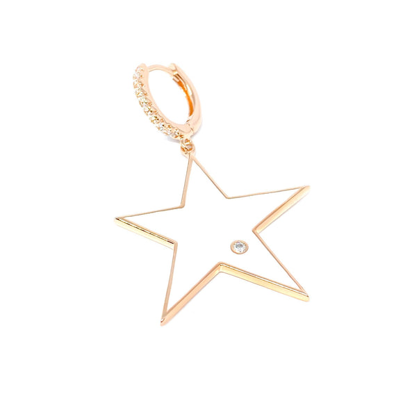 Big White Star Drop Earring