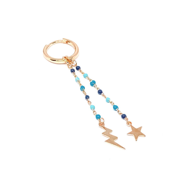 Lightning Star Chain Earring