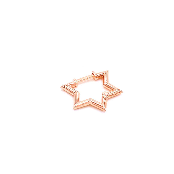 Plain Star Earring