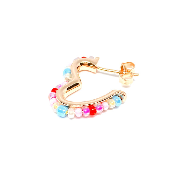 Bead Mix Heart Small 2 cm Earring