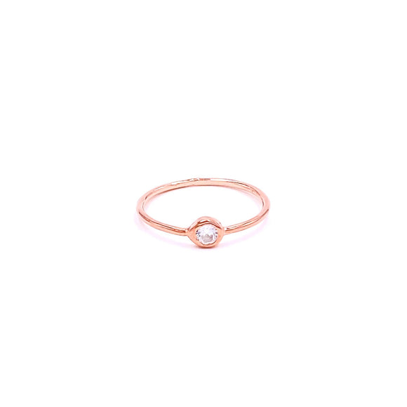 Mini Solitaire Ring - 2