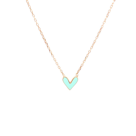 Double Sided Enamel Necklace