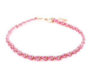 Baby Pink Rope Braided Anklet