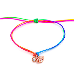 Multicolor Eye Rope Anklet