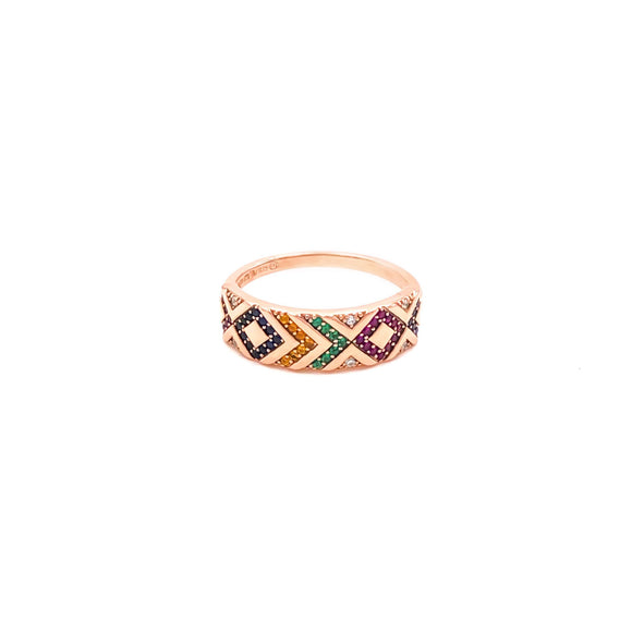 Authentic Multicolor Tag Ring
