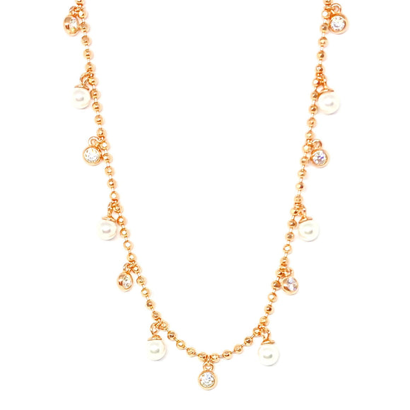 Pearl Seed Chain Necklace