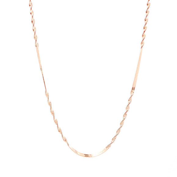 Thin Spiral Chain Necklace