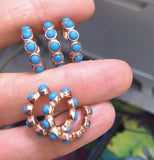 Turquoise Balls Ear Cuff