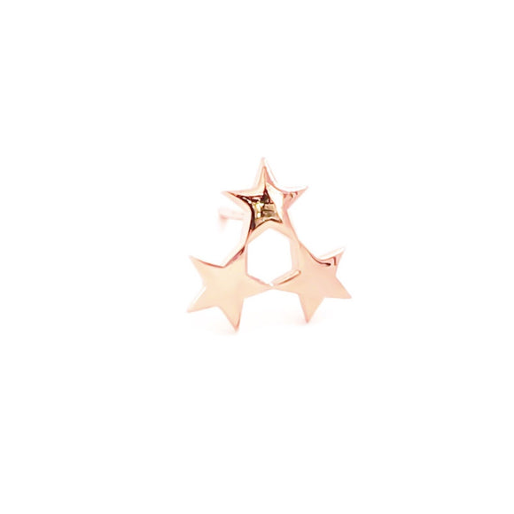Trio Star M Stud Earring