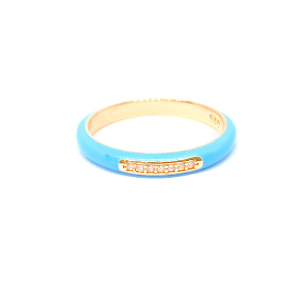 Baby Blue Line Ring