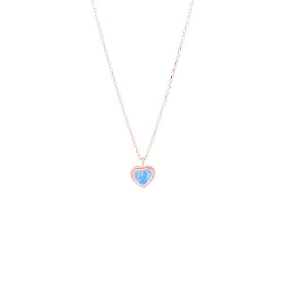 Turquoise Mini Heart Necklace