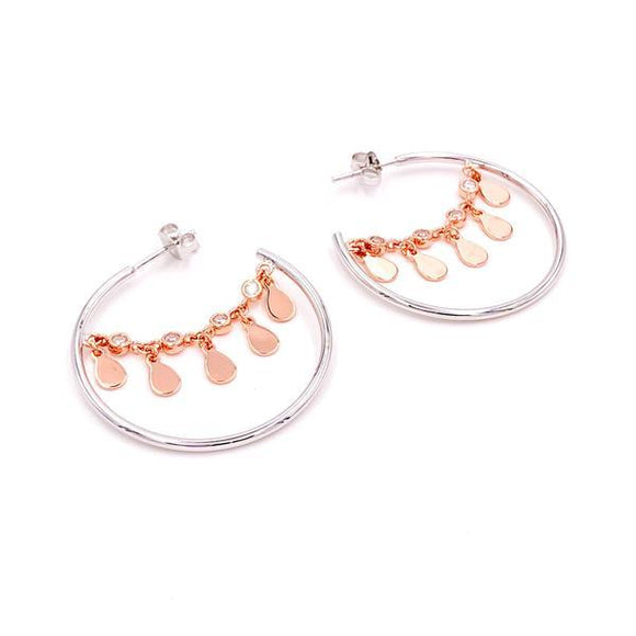 Double Color Discs Hoop Earrings