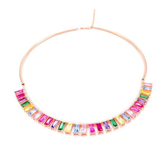 Rainbow Gemstone Choker