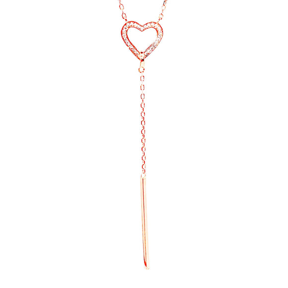 Heart Lariat Necklace - Italian Collection