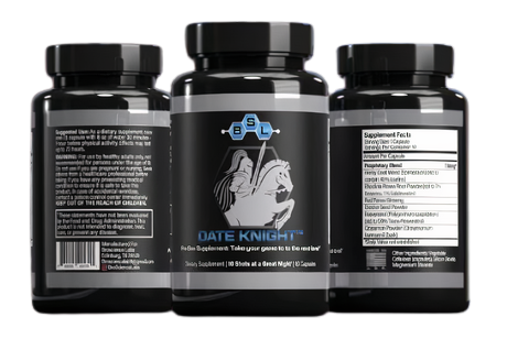 DATE KNIGHT™ Pre-Sex supplement - BroScienceLabs fitness shredded weight lifting gear