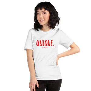 "Short-Sleeve Unisex ""Unique T-Shirt"