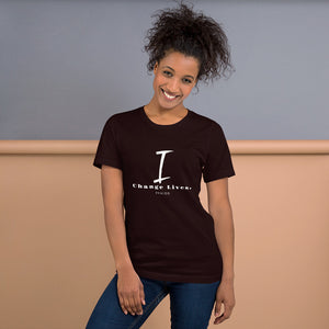 "Short-Sleeve Unisex ""I Change Lives"" T-Shirt"