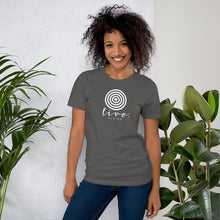 "Load image into Gallery viewer, Short-Sleeve Unisex ""Live"" T-Shirt"
