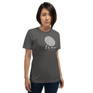 "Short-Sleeve Unisex ""Live"" T-Shirt"