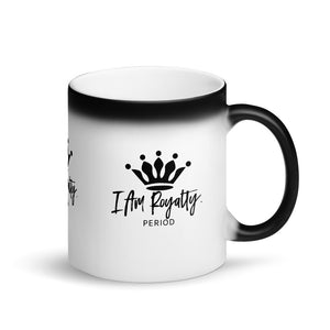Matte Black Magic Mug - I Am Royalty
