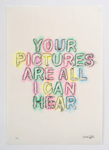 My Pictures of You - full series - 4 x original rubbings