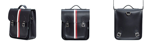 Handmade Leather City Backpack British Edit on a white background