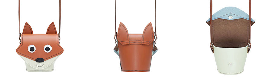 Foxy Fox Handmade Leather Animal handbag