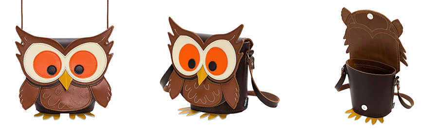 Hoot Owl Handmade Leather Animal Bag