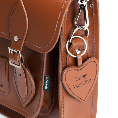 Leather Heart Keyring - Accessories - Zatchels