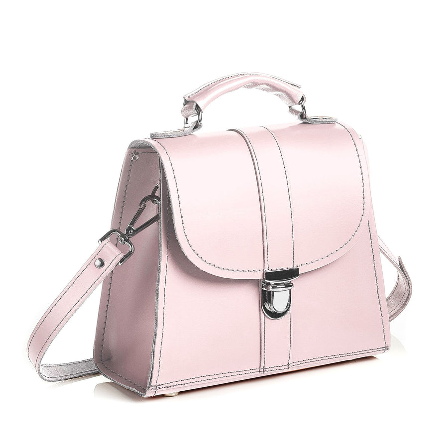 Rose Quartz Leather Cross Body Bag - Cross Body Bag - Zatchels