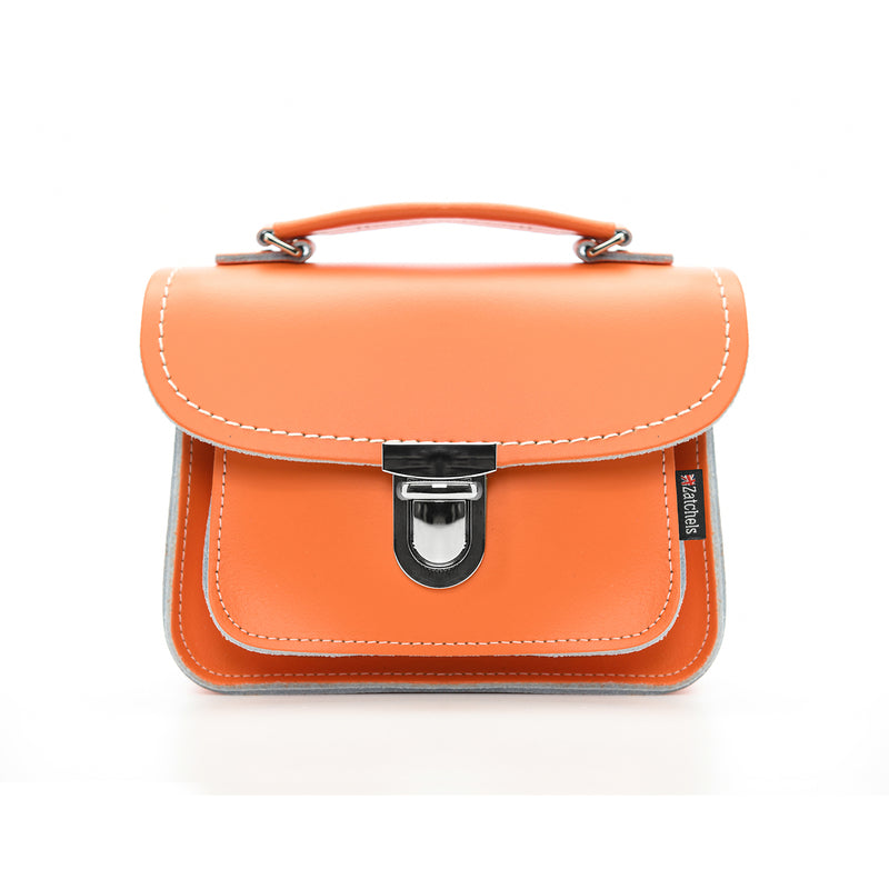 Handmade Leather Luna Bag - Orange