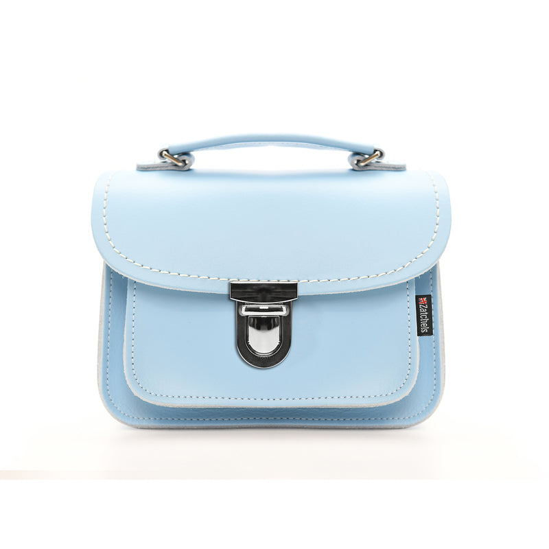 Handmade Leather Luna Bag - Baby Blue