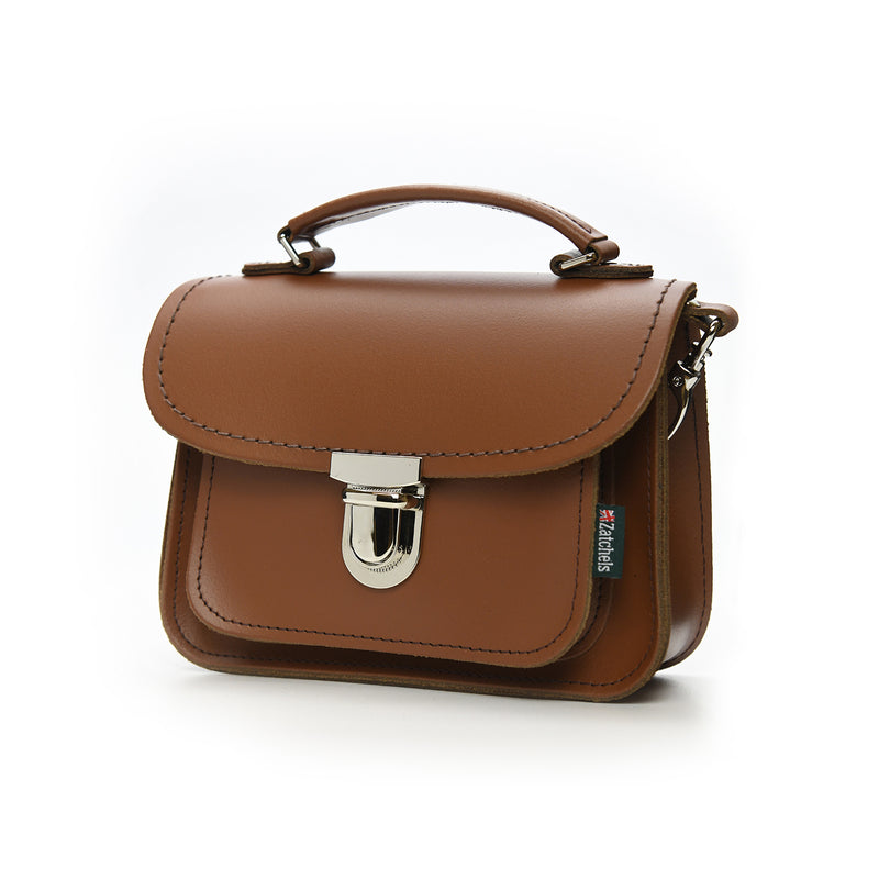 Handmade Leather Luna Bag - Chestnut