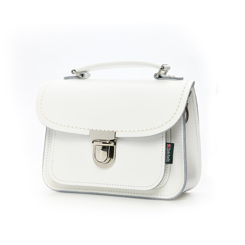 Handmade Leather Luna Bag - White