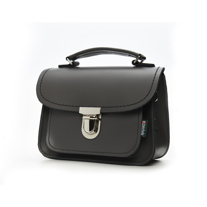 Luna Handmade Leather Bag - Graphite