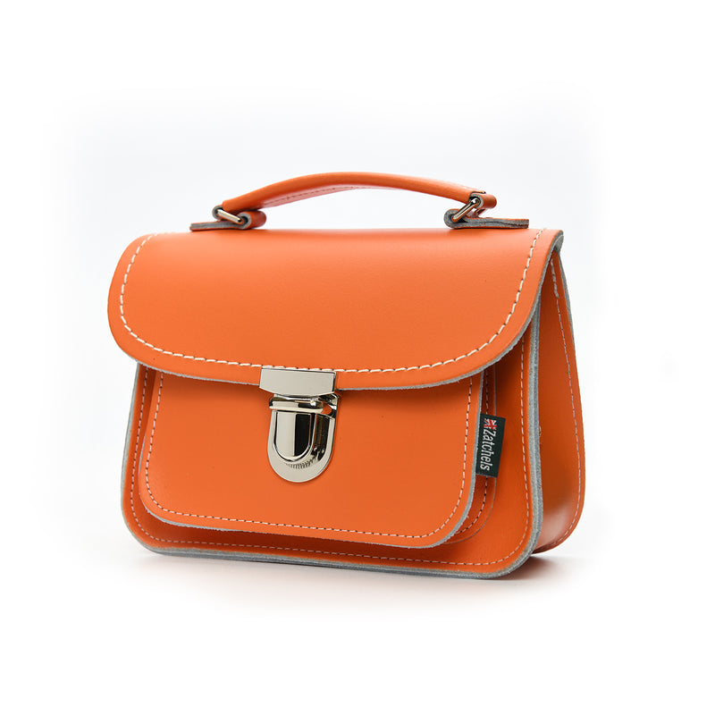 Luna Handmade Leather Bag - Orange