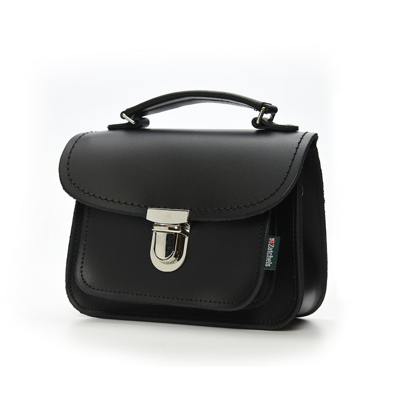 Handmade Leather Luna Bag - Black